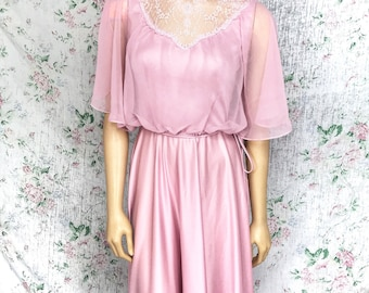 Victorian Style 70s Bridesmaid Formal Dress