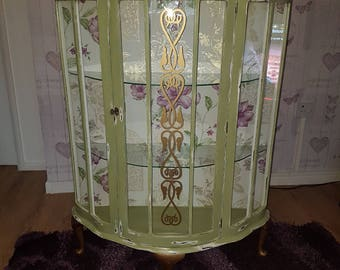 Upcycled 1950's glass cabinet
