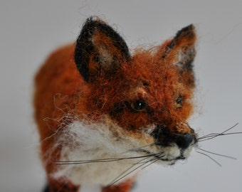 Needle Felted  Animals. Felted fox. Needle felted fox.
