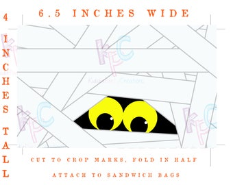 Halloween Printable Treat Bag Toppers Mummy Eyes {Digital File Only INSTANT DOWNLOAD}