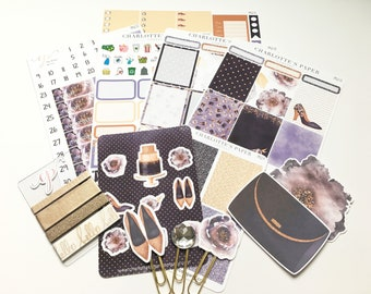 Limited Edition Premium Sticker Box Set / Midnight Magic / Erin Condren Planner Stickers / Planner Clips / Planner Die Cuts / PK2