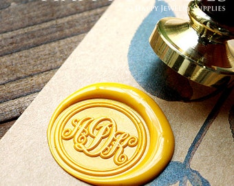 1pcs Custom Wax Seal Stamp Initial Alphabet Sealing Wax Stamp,Personalized Monogram Calligraphy Wedding Invitation Letter Metal Stamp(WS060)