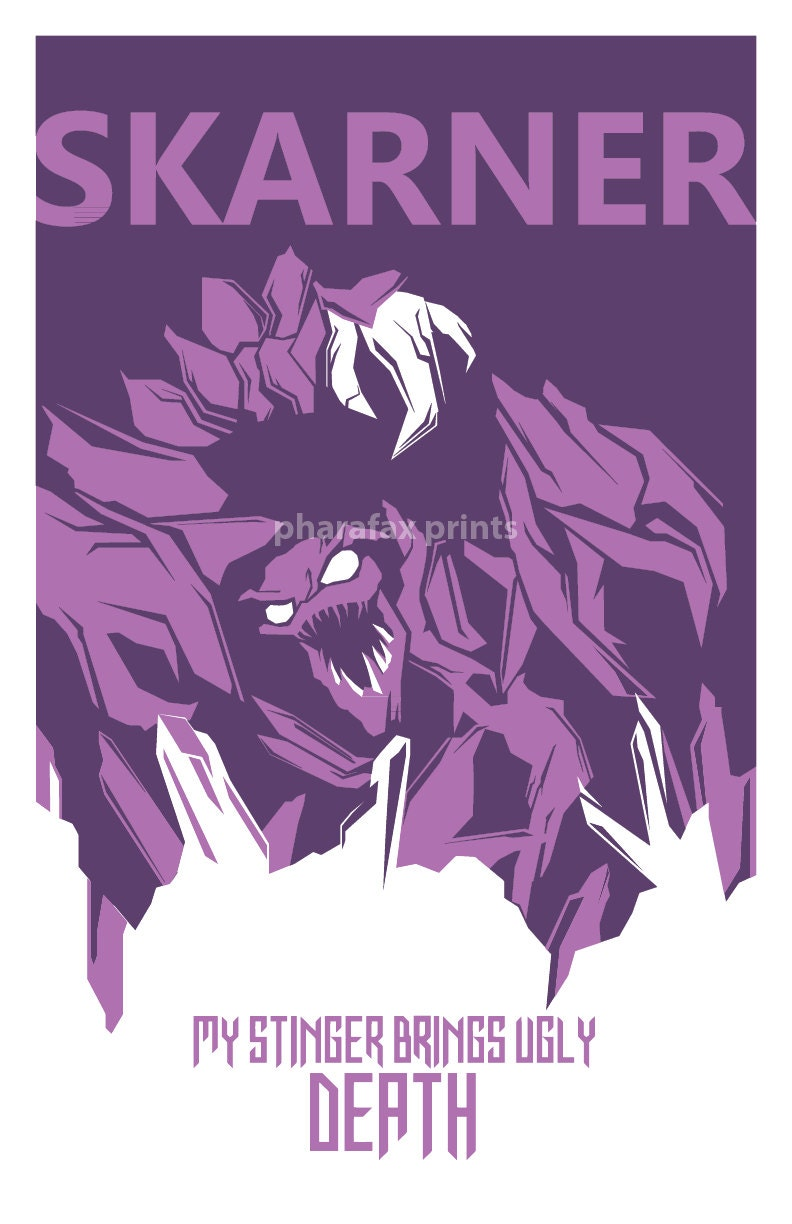 Skarner Quotes: Skarner: League Of Legends Print