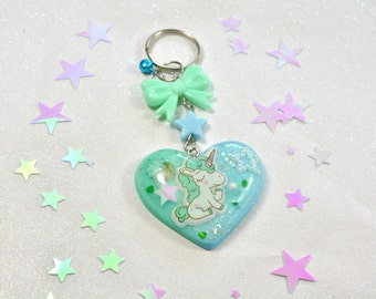 Unicorn Resin Keychain/bag charm