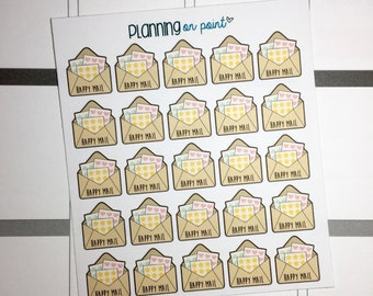 Sticker Happy Mail Planner Stickers!