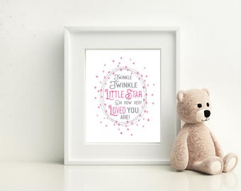 Twinkle Twinkle Little Star do you know how loved you are baby shower sign decoration baby birthday printable sign lullaby for baby's room