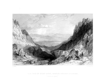 Cairn Gorm AVIEMORE INVERNESS-SHIRE  ~ Scotland Scottish Vintage Antique Art Print Steel Plate Engraving 1830s [InvSctLnd 117