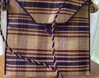 Vintage Woven Straw Purse