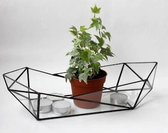 Boot, Terrarium Glasbehälter, geometrische Terrarium, saftiges Pflanzgefäß, Glasmalerei Terrarium, saftig Terrarium Terrarium Behälter