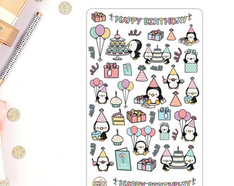 Birthday Celebration Presents Planner Stickers