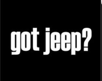 Got Jeep sticker/decal in your custom color choice