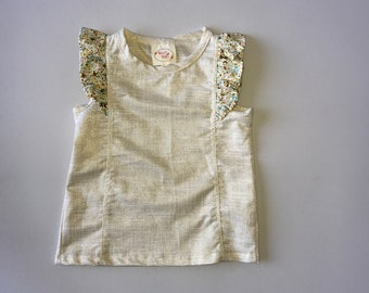 SAMPLE SALE -  Pippin Top in Glimmer - Size 4