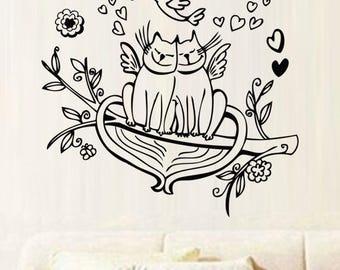 "Sticker ""Cat lover Couple"""