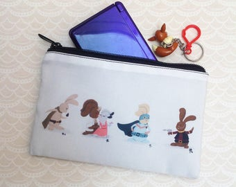 Plot Bunnies Zipper Pouch Pencil Case Cosmetics Bag