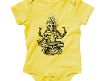 Baby Shiva Romper - Infant One Piece - NB 6m 12m 18m 24m - Shiva Gift, Shaivism Baby, Hinduism Baby, Hindu Baby, God Baby, Deity Baby