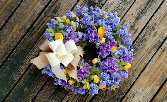 Wreath, Spring Wreath, Summer Wreath, Wedding Wreath, Mother's Day Wreath, Ready To Ship
