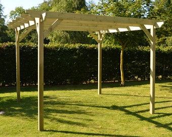 Garden Pergola - Sculpted Rafter End - 4 Posts
