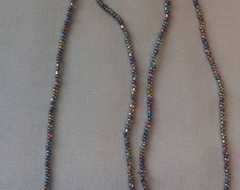Multi Colored Seed Bead Necklace