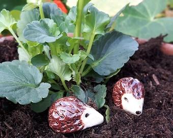 Miniature Ceramic hedgehogs
