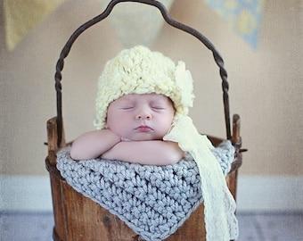 Newborn  baby photo prop chunky baby blanket photography prop basket filler basket stuffer