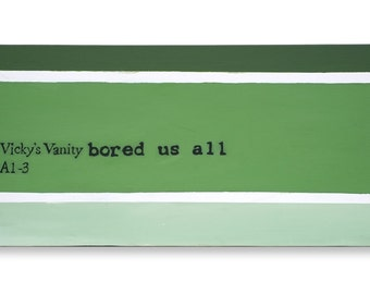 Original Word Art-Vicky's Vanity Painting
