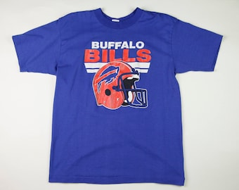 Vintage NFL Buffalo Bills Football Helmet Graphic T-Shirt, Size Large