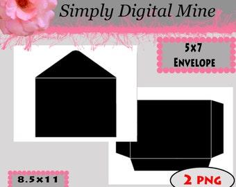 YOU Design!!! 5x7 Envalope Template !!