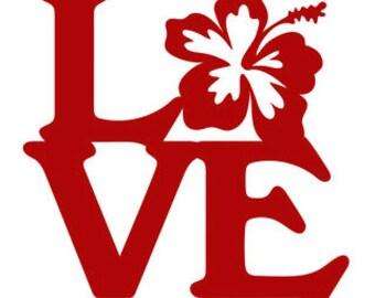Love hibiscus flower