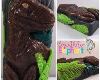 Clever Girl Soap / Raptor Soap / Dinosaur Soap / 5 oz Soap / Glycerin Soap / Party Favor / Fandom Soap / Jurassic Soap