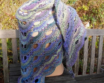 Soft and Cosy Hand-crocheted Shawl