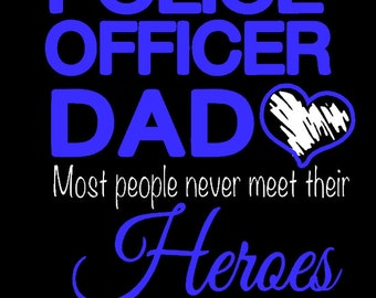 Police officer Dad T-shirt