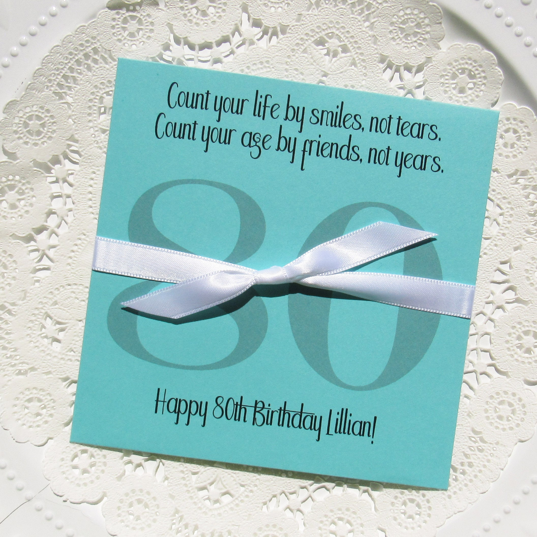 80th Birthday Favors Adult Birthday Favors Lottery