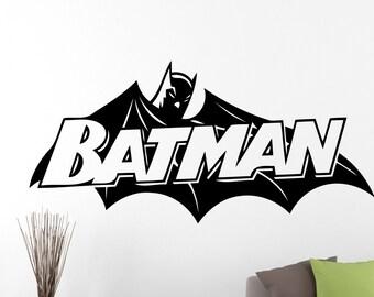 Batman Wall Decal Cartoon Sticker Superhero Decorations Comics Movie Vinyl Art Home Living Room Dorm Boys Room Decor 1ezz