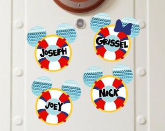 Personalized Lifesaver Disney Cruise Magnets - Disney Cruise Magnet - Door Magnets