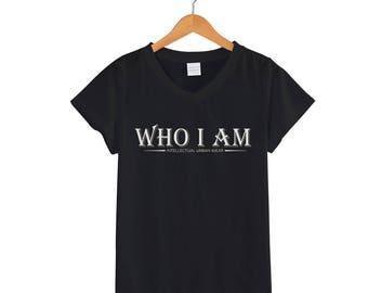 Who I Am Female V-Neck Shirt