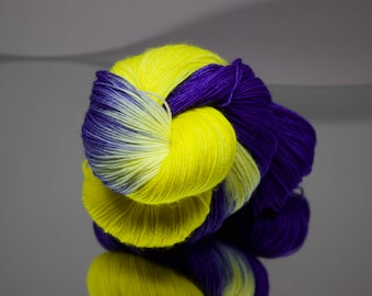 Pre-Order Hand dyed sock yarn - Morning Glory - Superwash Merino/Nylon blend 4-ply