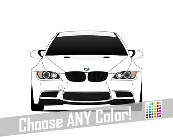 BMW M3 E90 E92 E93 M3 Poster // Colorful Car Posters