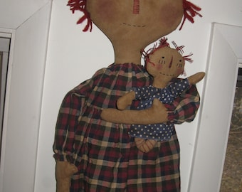 Primitive Raggedy with Dolly