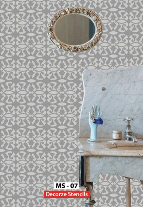 wiederverwendbare wand schablonen marokkanische. Black Bedroom Furniture Sets. Home Design Ideas