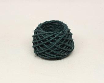 Dark Turquoise Hemp Yarn 1.4mm