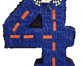 Fast Shipping Large Number Four Pinata For Race Car Theme Party