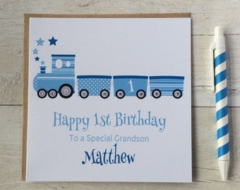 First birthday card etsy personalised train birthday card 1st first 2nd 3rd 4th 5th bookmarktalkfo Image collections