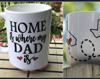 Father's Day, Father's Day Gifts, Gifts for Dad, Gifts for him, Dad Gifts, Dad, Stepdad, Father, Long distance mug, Long distance dad, mug