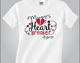Personalized Valentine's Day Shirt Mommy's Little Heart Breaker