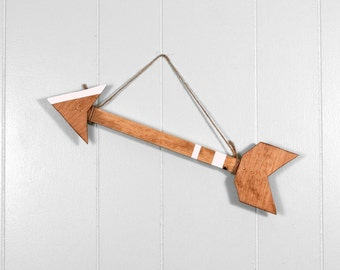 Arrow Decor, Wall Arrow, Arrow, Honey and White, Boho Home, Bohemian, Arrow Art, 16 Inch