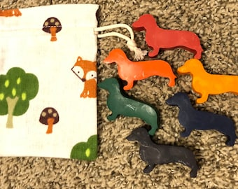 Dachshund Dog 6pc Crayon Set; Party Favors or Gift for Kids and Adults Coloring Adventures!