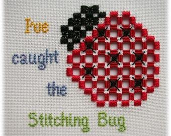 Hardanger embroidery - Stitching Bug