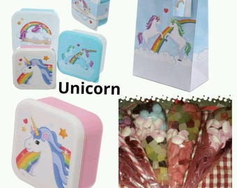 Kids Children Birthday Party Pre-Filled Bags Boys Girls  All-in-One Gift Sister Brother Friend  - Unicorn Theme