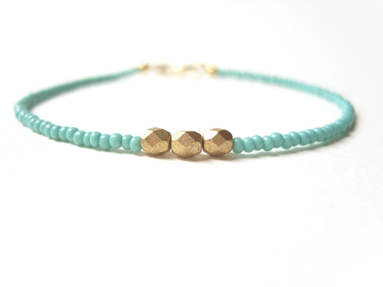 beaded friendship bracelet turquoise bead bracelet gold. Black Bedroom Furniture Sets. Home Design Ideas