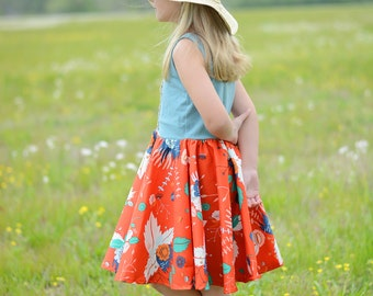 Girls summer dress - girls summer outfit - summer dress for girls - summer dress - girls summer clothing - girls twirl dress - toddler dress